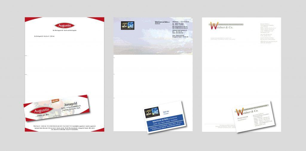 Briefpapiere und Visitenkarten